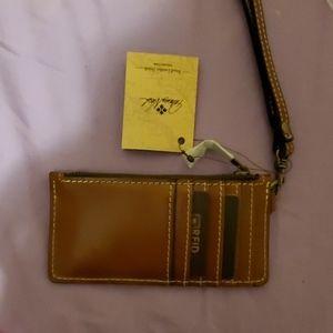 patricia nash wristlet wallet keychain NWT